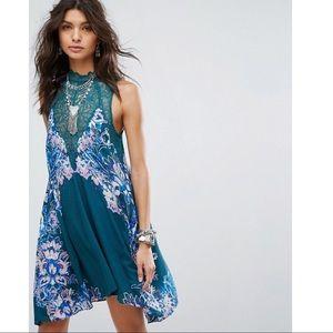 Free People 'Marsha' Printed Lace Slip Dress